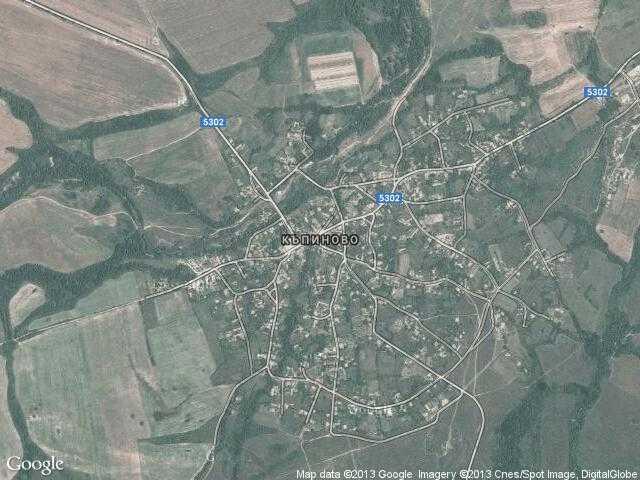 Сателитна карта на Къпиново