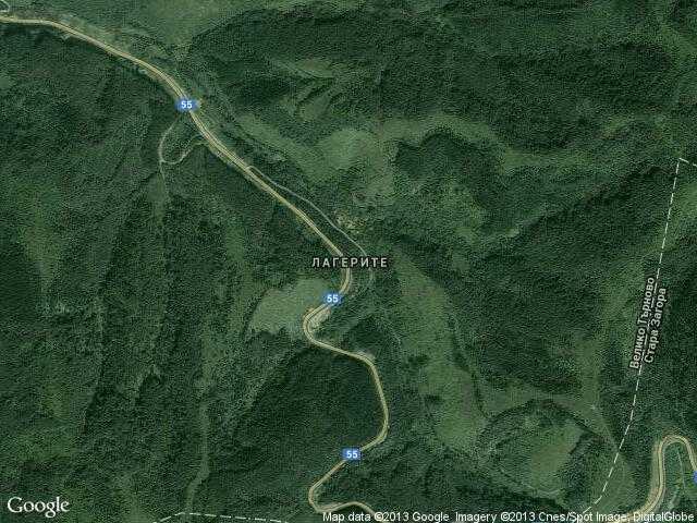 Сателитна карта на Лагерите