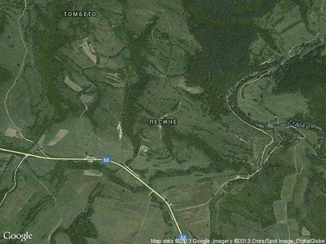 Сателитна карта на Лесиче