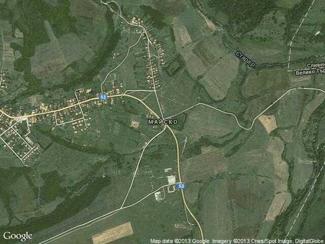 Сателитна карта на Майско