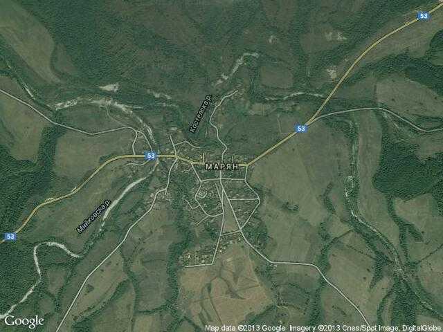 Сателитна карта на Марян