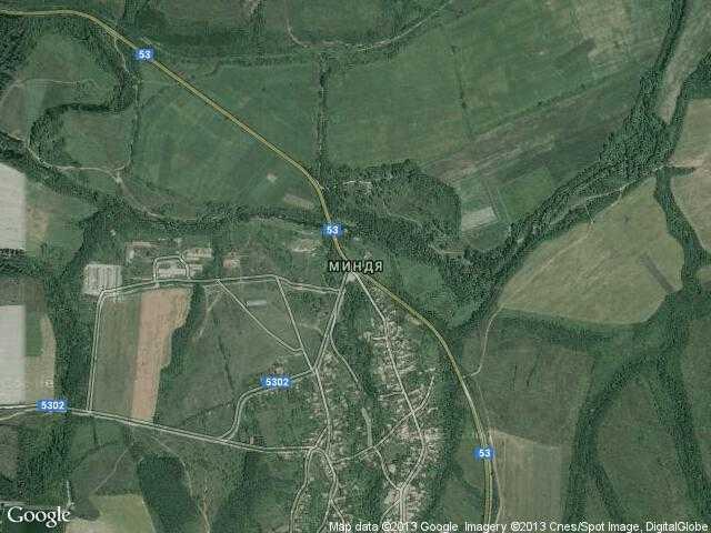 Сателитна карта на Миндя