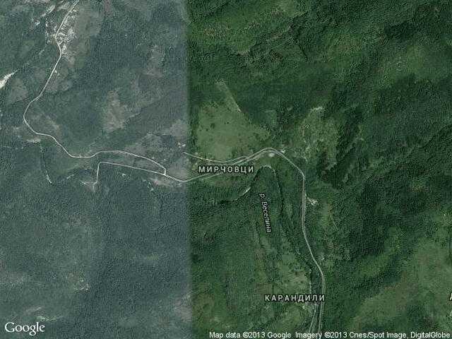 Сателитна карта на Мирчовци