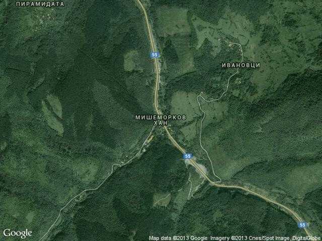 Сателитна карта на Мишеморков хан