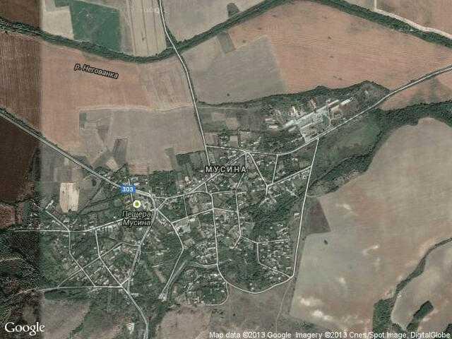 Сателитна карта на Мусина