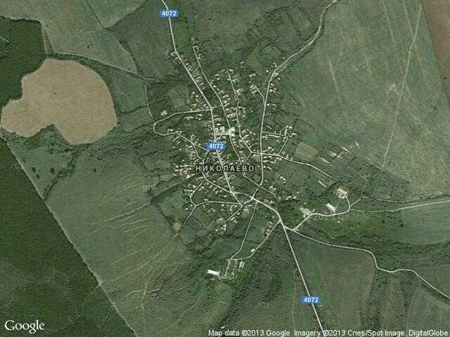 Сателитна карта на Николаево