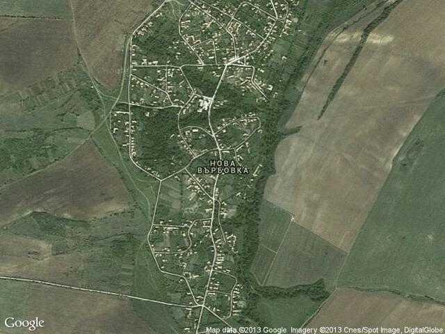 Сателитна карта на Нова Върбовка