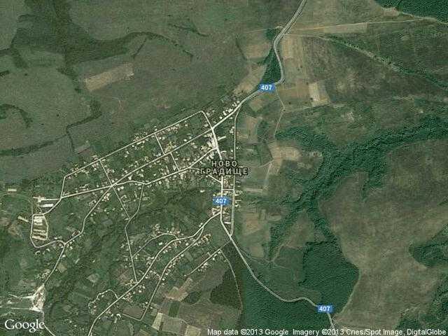 Сателитна карта на Ново градище