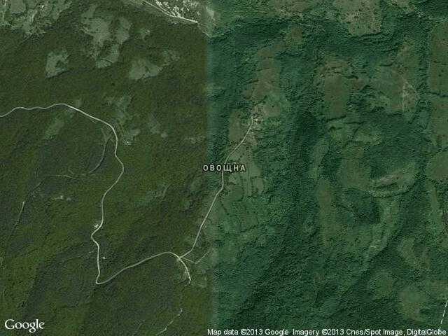 Сателитна карта на Овощна