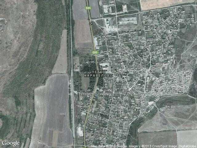 Сателитна карта на Петко Каравелово