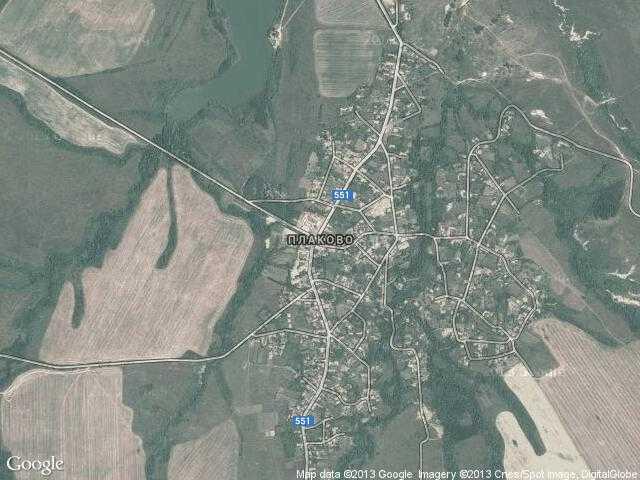 Сателитна карта на Плаково