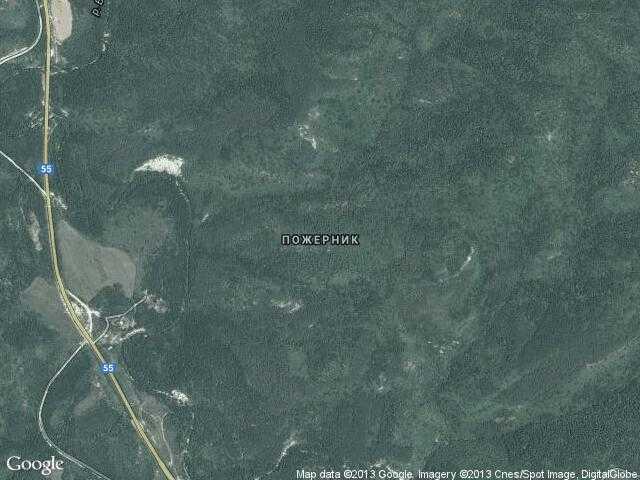 Сателитна карта на Пожерник