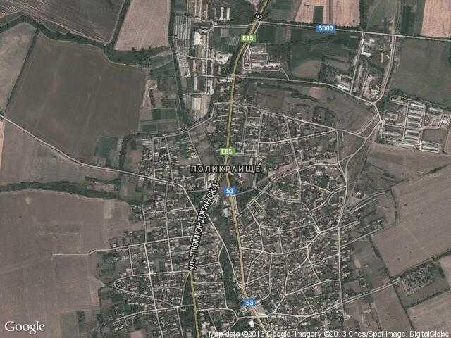 Сателитна карта на Поликраище