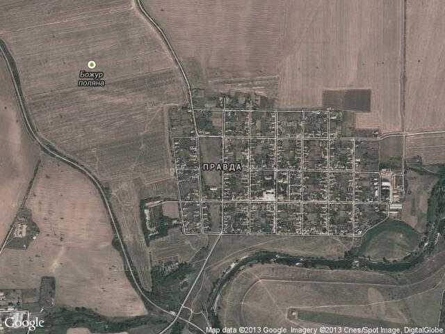 Сателитна карта на Правда