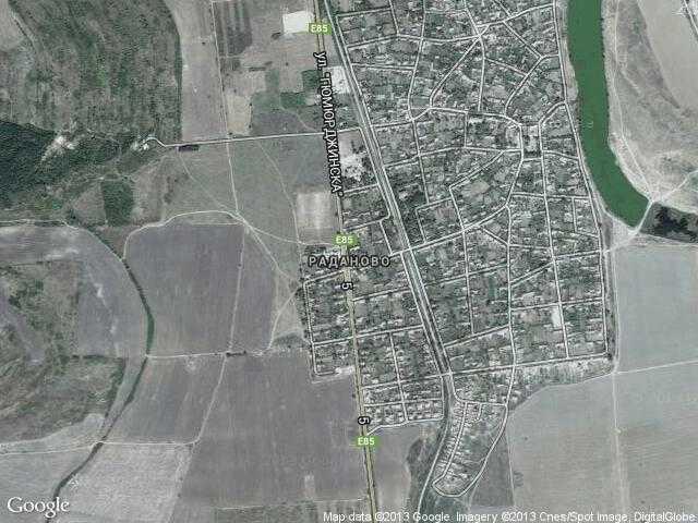 Сателитна карта на Раданово