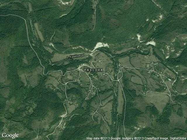 Сателитна карта на Разсоха