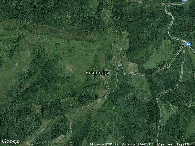 Сателитна карта на Райновци