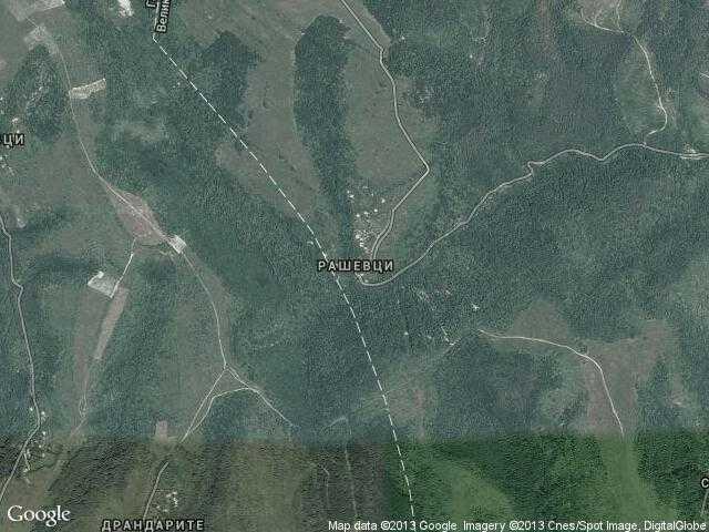 Сателитна карта на Рашевци