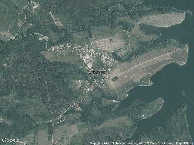 Сателитна карта на Раювци
