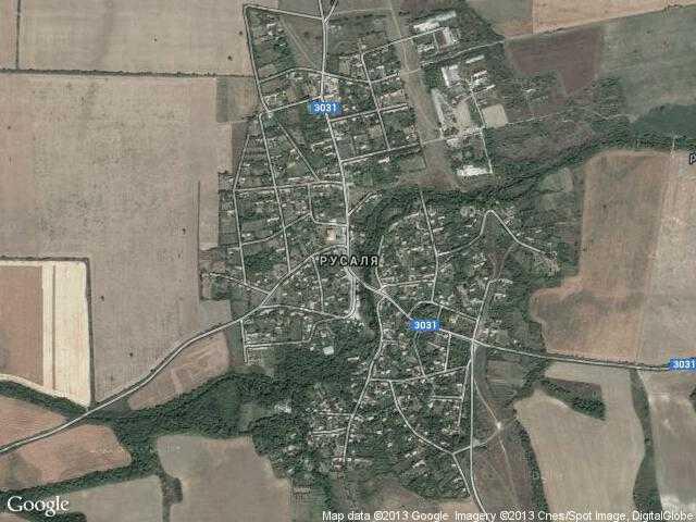 Сателитна карта на Русаля