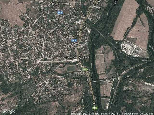 Сателитна карта на Самоводене