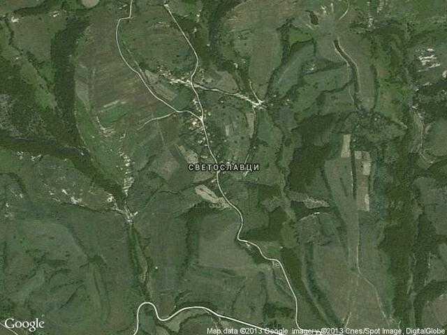Сателитна карта на Светославци