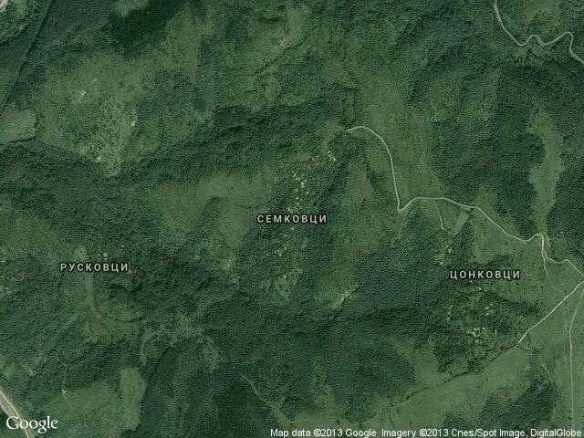 Сателитна карта на Семковци