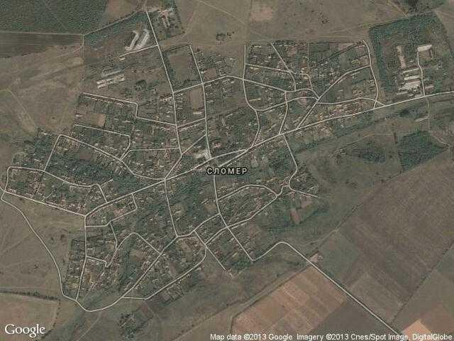 Сателитна карта на Сломер