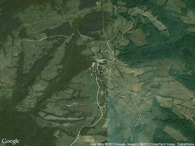 Сателитна карта на Средно село