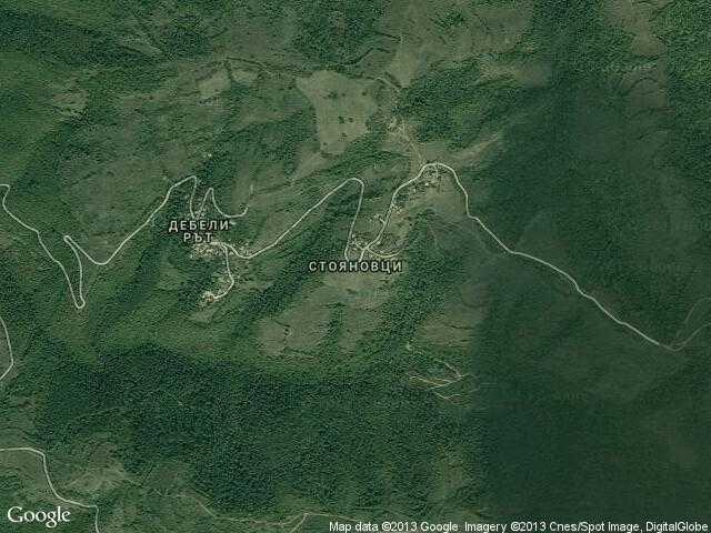 Сателитна карта на Стояновци