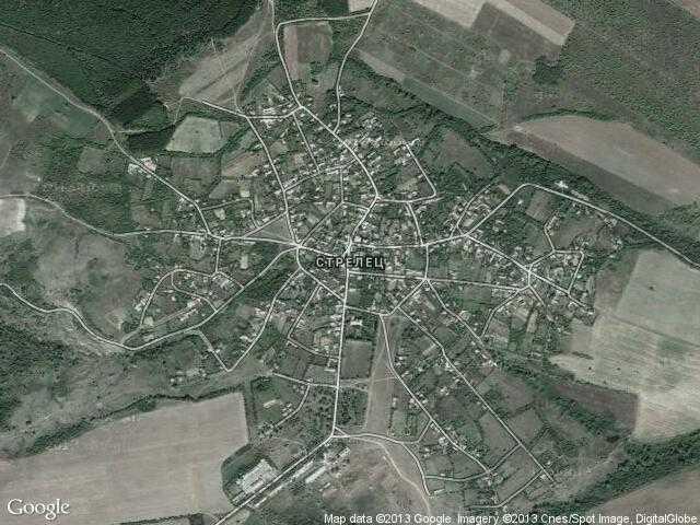 Сателитна карта на Стрелец