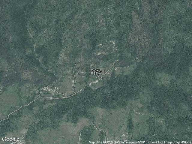 Сателитна карта на Суха река