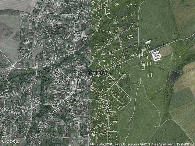 Сателитна карта на Сушица