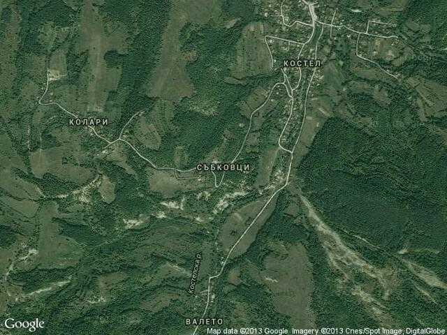 Сателитна карта на Събковци