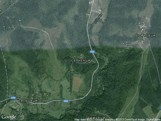 Сателитна карта на Сърненци
