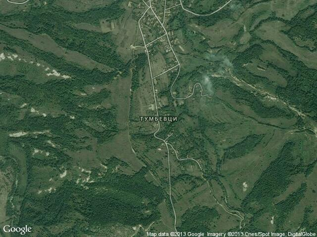 Сателитна карта на Тумбевци