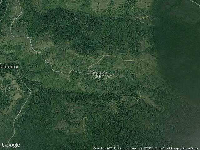Сателитна карта на Тънки рът