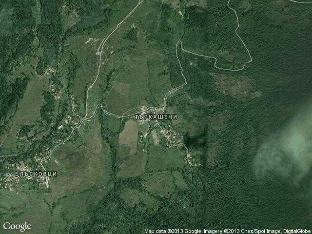 Сателитна карта на Търкашени