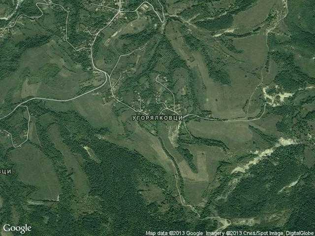 Сателитна карта на Угорялковци
