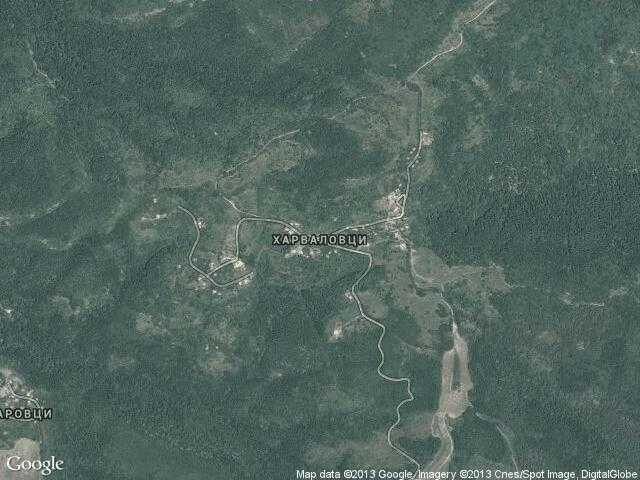 Сателитна карта на Харваловци