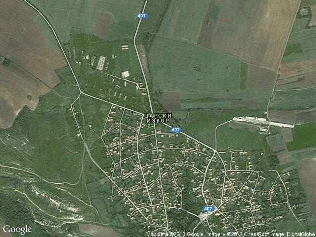 Сателитна карта на Царски извор
