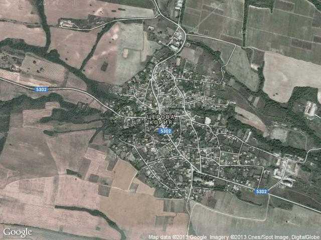 Сателитна карта на Церова кория