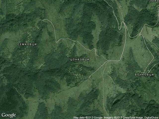 Сателитна карта на Цонковци