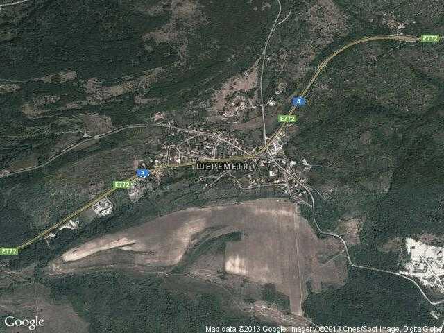 Сателитна карта на Шереметя