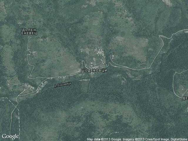Сателитна карта на Шодековци