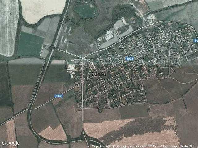 Сателитна карта на Янтра