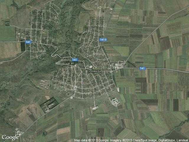 Сателитна карта на Грамада