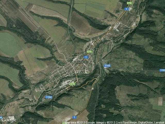 Сателитна карта на Димово
