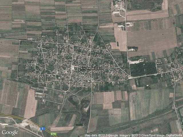 Сателитна карта на Антимово