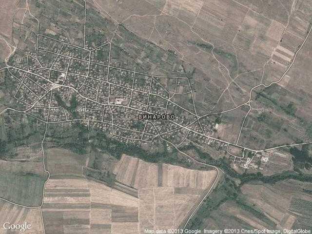 Сателитна карта на Винарово